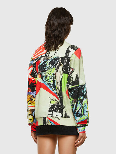 Diesel - F-ANG-ZIP-V43, Rouge/Blanc - Pull Cotton - Image 2