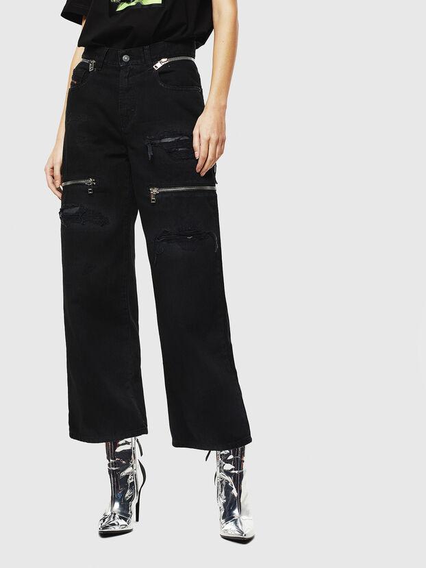 Widee 069JA, Noir/Gris foncé - Jeans