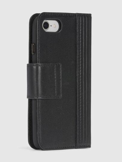 Diesel - BLACK LINED LEATHER IPHONE 8/7 FOLIO, Noir - Coques à rabat - Image 6