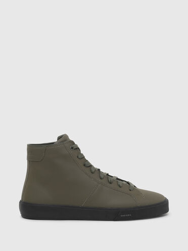 Sneakers montantes en cuir