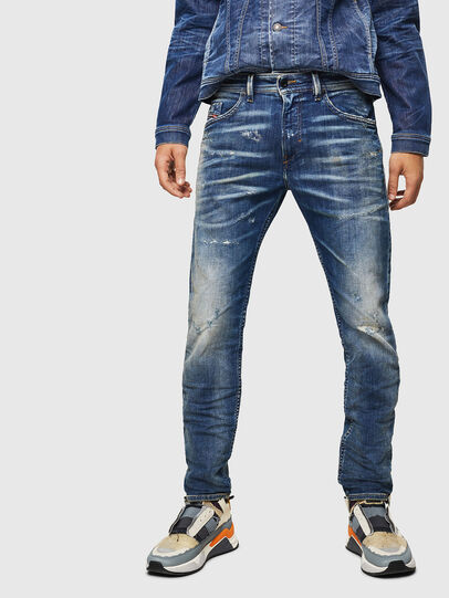 Diesel - Thommer JoggJeans 0870Q, Bleu moyen - Jeans - Image 1