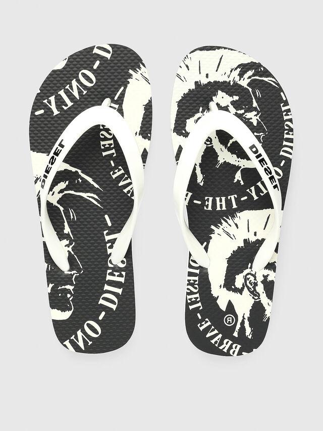 Diesel - FF 22 FLIPPER YO, Blanc/Noir - Footwear - Image 2