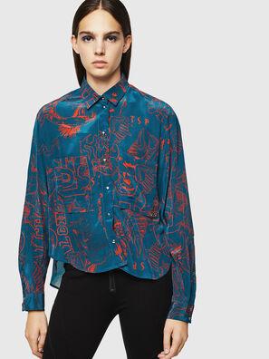 C-SUPER-F, Bleu/Rouge - Chemises