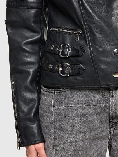 Diesel - L-IGE-NEW-A, Noir - Vestes de cuir - Image 4