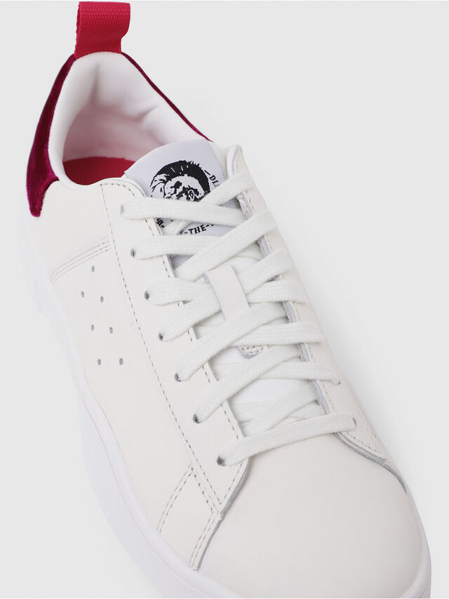 Diesel - S-CLEVER LOW W, Blanc/Rouge - Baskets - Image 5