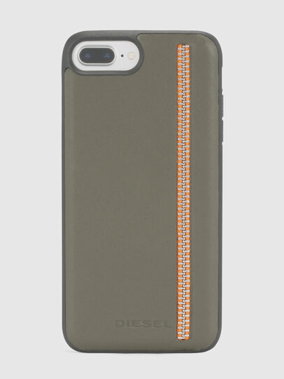 Diesel - ZIP OLIVE LEATHER IPHONE 8 PLUS/7 PLUS/6s PLUS/6 PLUS CASE, Vert Olive - Coques - Image 2