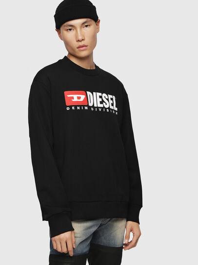 Diesel - S-CREW-DIVISION, Noir - Pull Cotton - Image 1