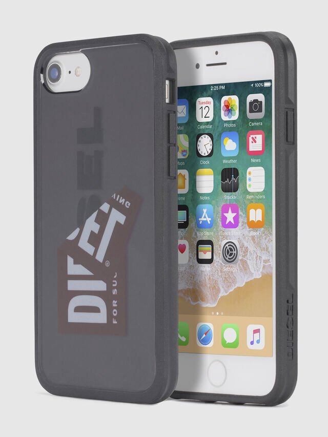 Diesel - STICKER IPHONE 8/7/6S/6 CASE, Noir - Coques - Image 1