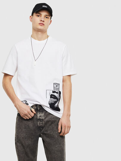 Diesel - T-JUST-T18, Blanc - T-Shirts - Image 5