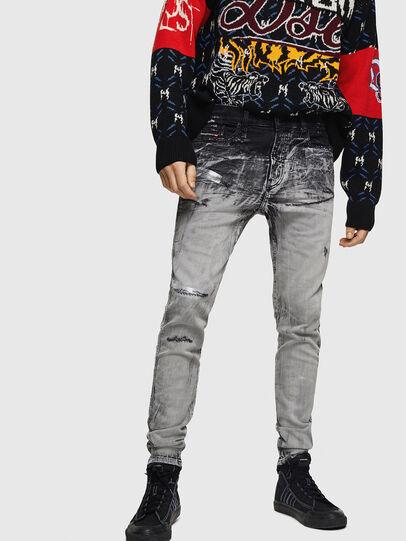 Diesel - D-Reeft JoggJeans 084AH, Noir/Gris foncé - Jeans - Image 1