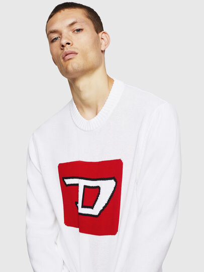 Diesel - K-LOGOX-B, Blanc - Pull Maille - Image 4