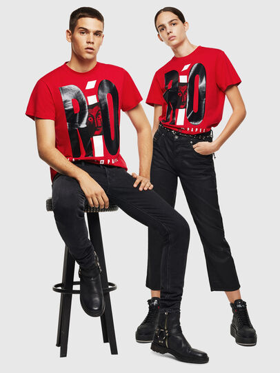 Diesel - LCP-T-DIEGO-RIO, Rouge - T-Shirts - Image 7