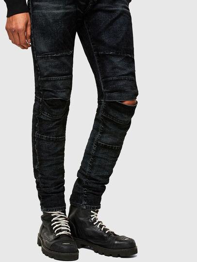 Diesel - D-Strukt JoggJeans® 069TG, Noir/Gris foncé - Jeans - Image 8