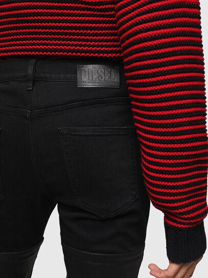 Diesel - D-Strukt 0091W, Noir/Gris foncé - Jeans - Image 5