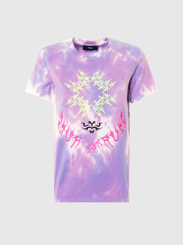 T-shirt tie and dye avec broderie