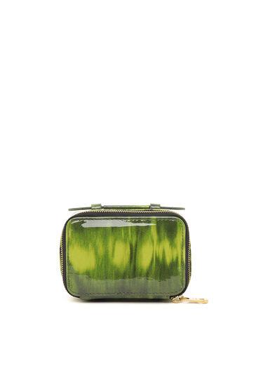Portefeuille mini-sac en cuir verni