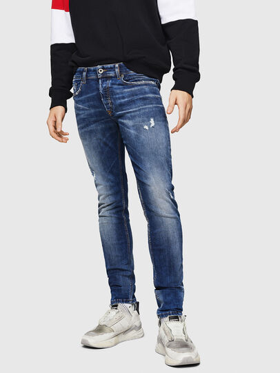 Diesel - Sleenker 069HQ, Bleu moyen - Jeans - Image 1
