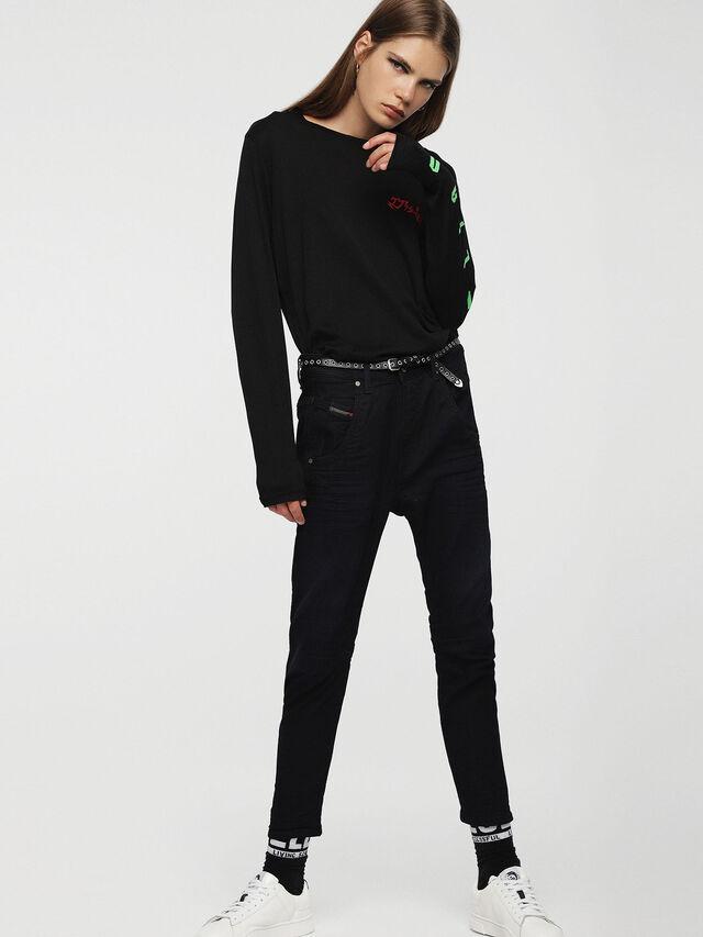 Diesel - Fayza JoggJeans 0829P, Bleu Foncé - Jeans - Image 4