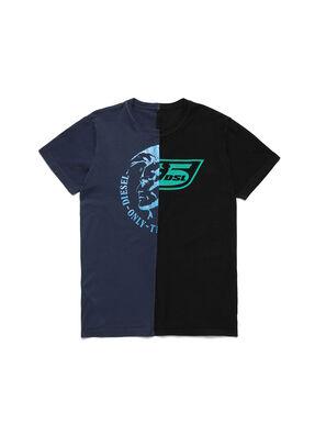 D-MESO&MESO, Bleu/Noir - T-Shirts