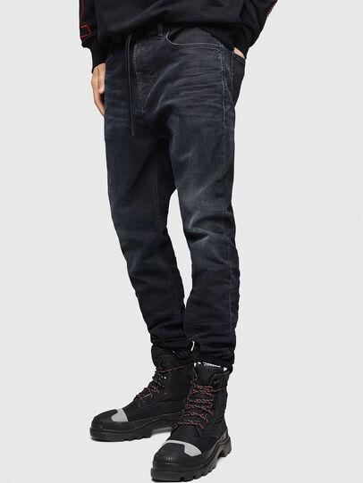 Diesel - D-Vider JoggJeans 069GE, Noir/Gris foncé - Jeans - Image 4