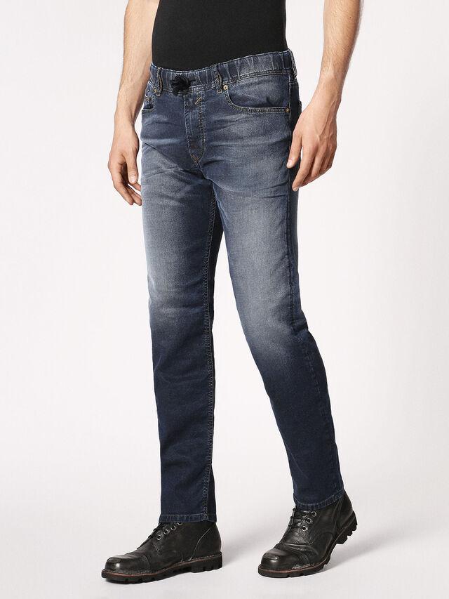 Diesel - Waykee JoggJeans 0683Y, Bleu Foncé - Jeans - Image 7