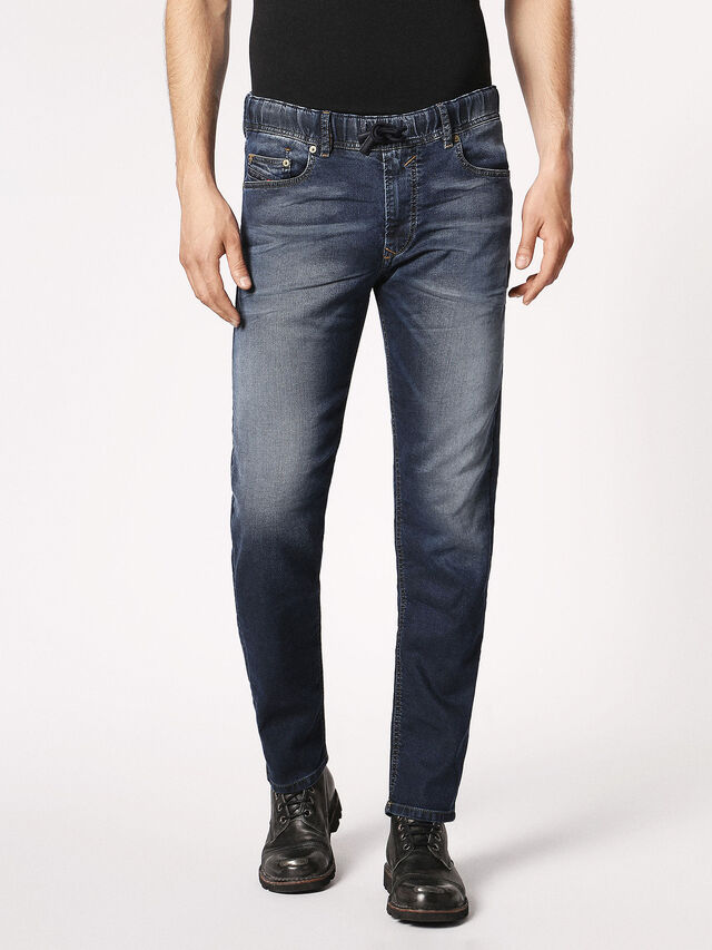 Diesel - Waykee JoggJeans 0683Y, Bleu Foncé - Jeans - Image 2