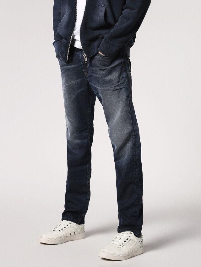 Diesel - Waykee JoggJeans 0683Y, Bleu Foncé - Jeans - Image 1