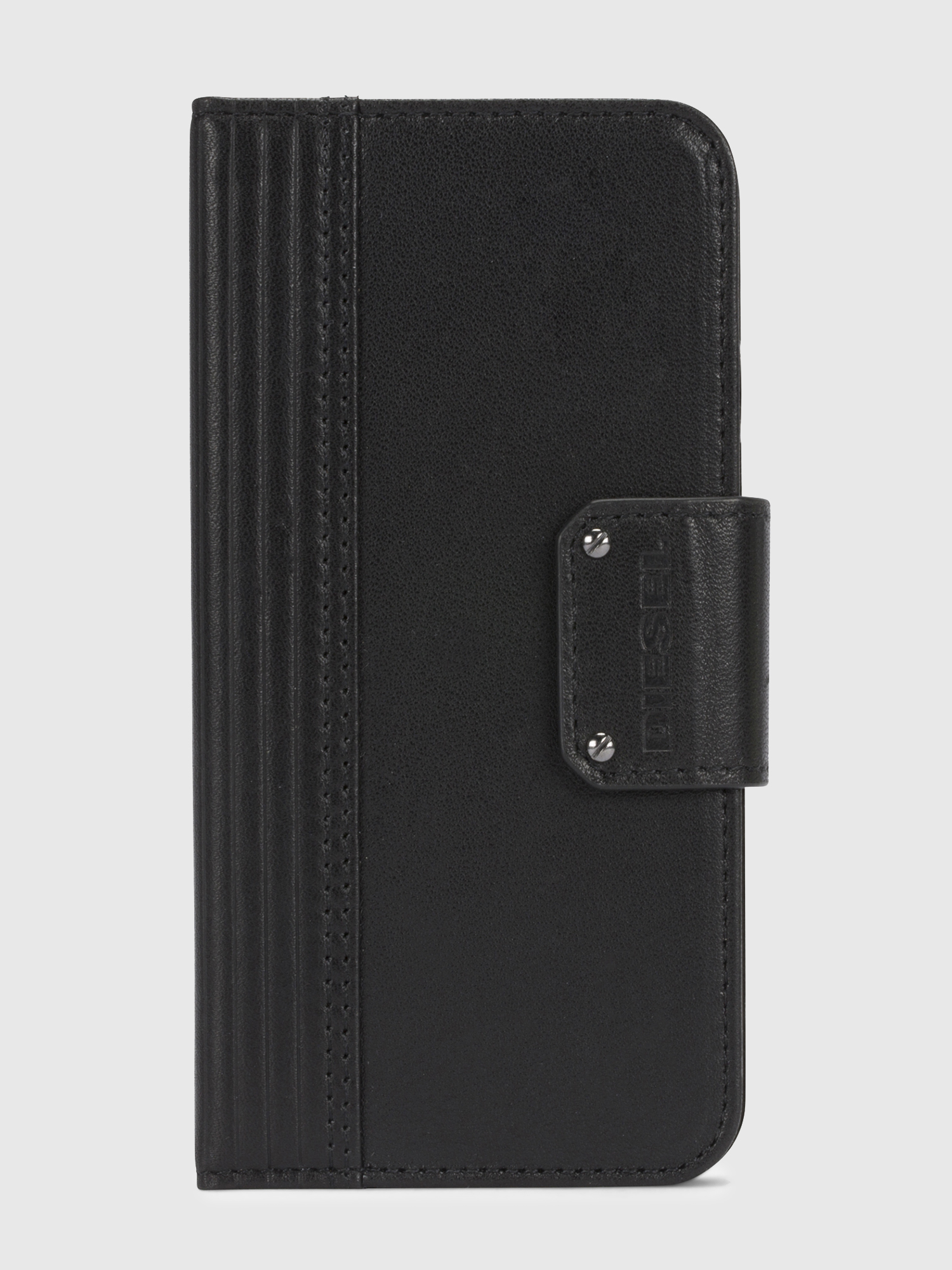 Diesel - BLACK LINED LEATHER IPHONE X FOLIO,  - Coques à rabat - Image 2