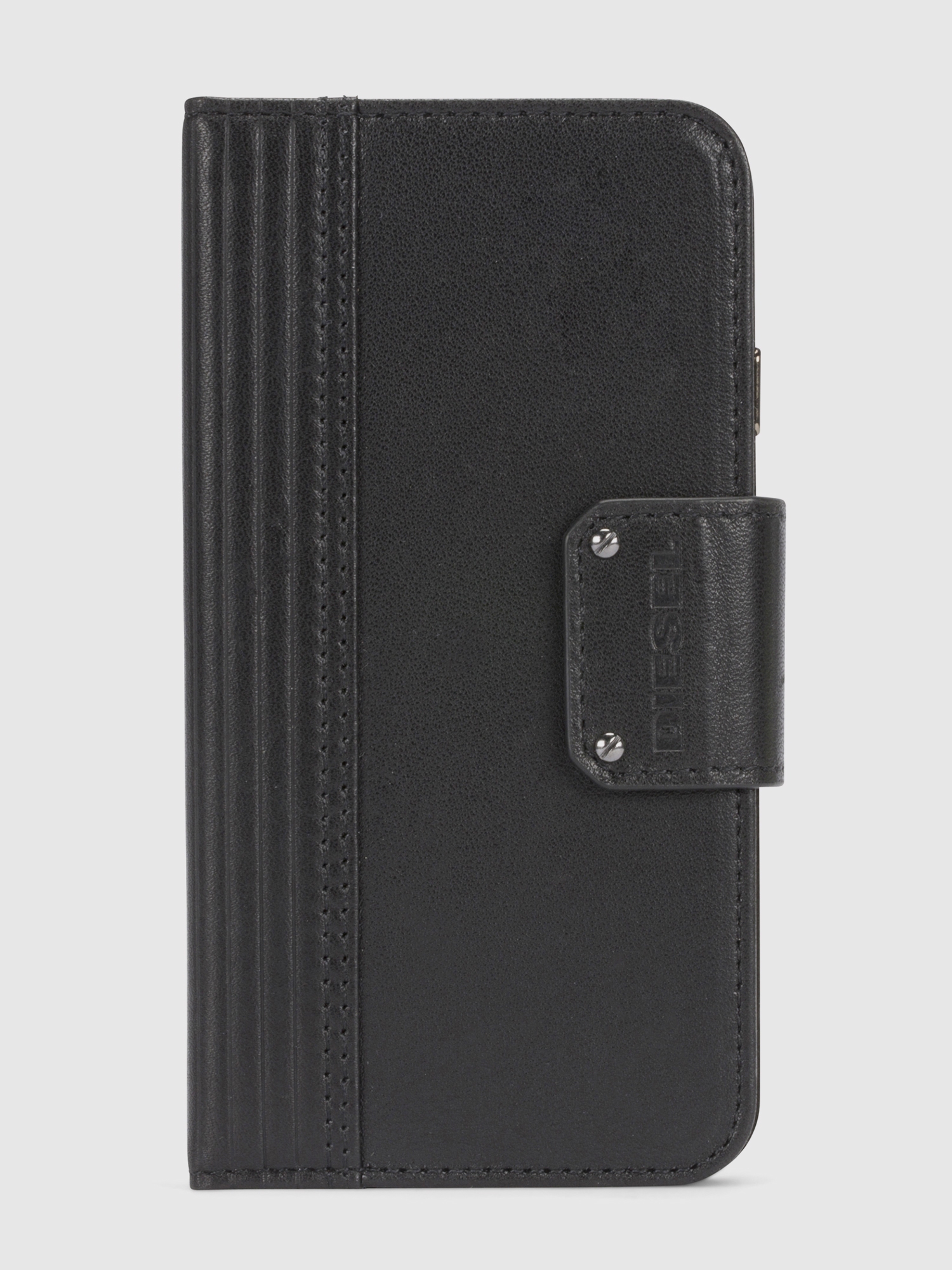 Diesel - BLACK LINED LEATHER IPHONE 8/7 FOLIO,  - Coques à rabat - Image 3
