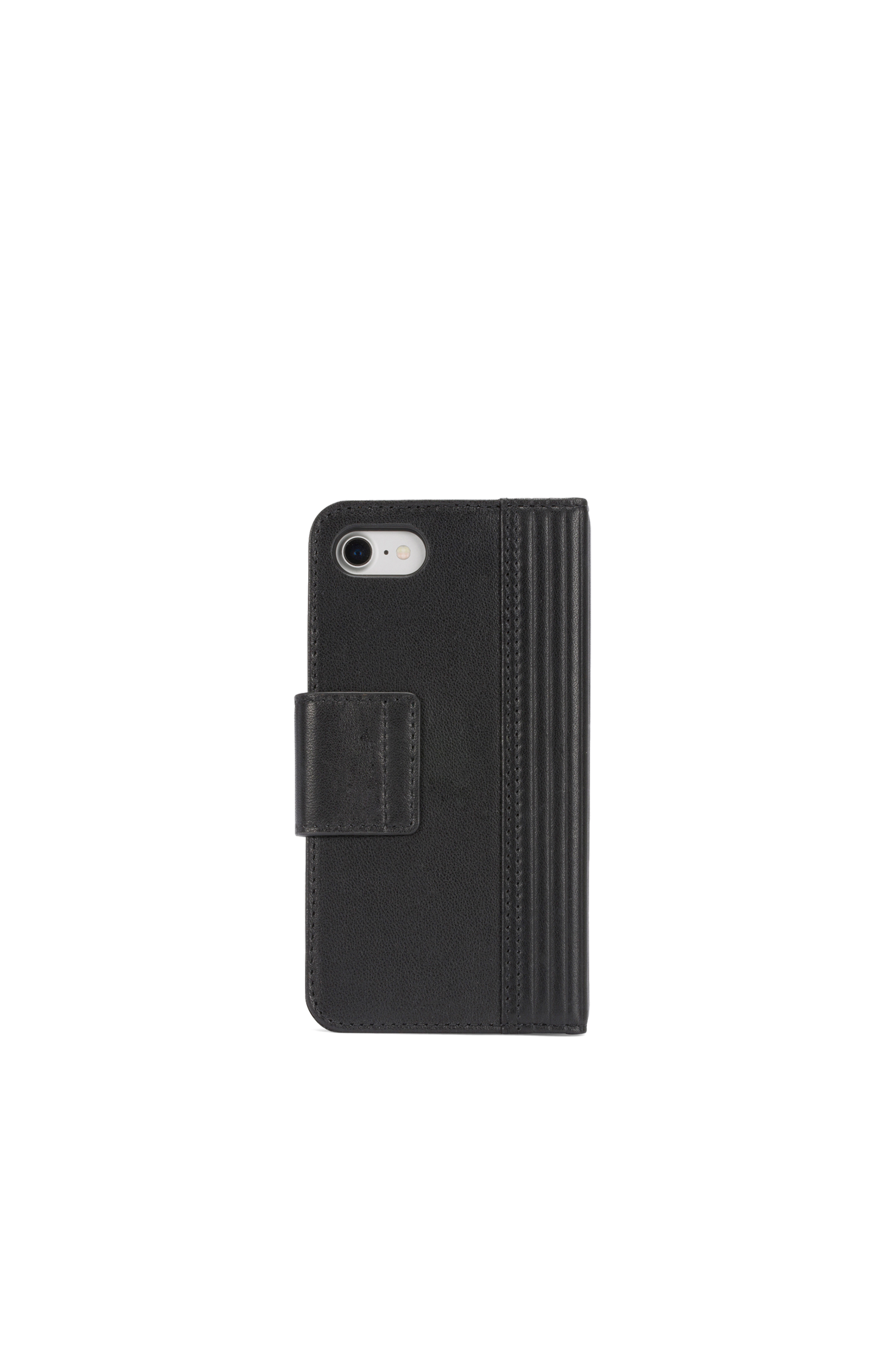 Diesel - BLACK LINED LEATHER IPHONE 8/7 FOLIO,  - Coques à rabat - Image 4