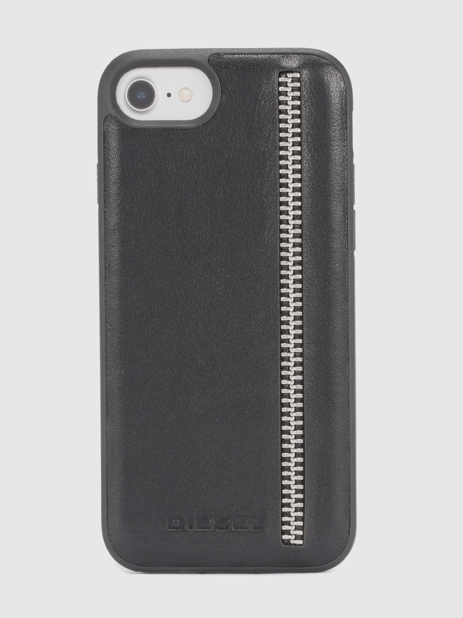 Diesel - ZIP BLACK LEATHER IPHONE 8/7/6s/6 CASE,  - Coques - Image 2