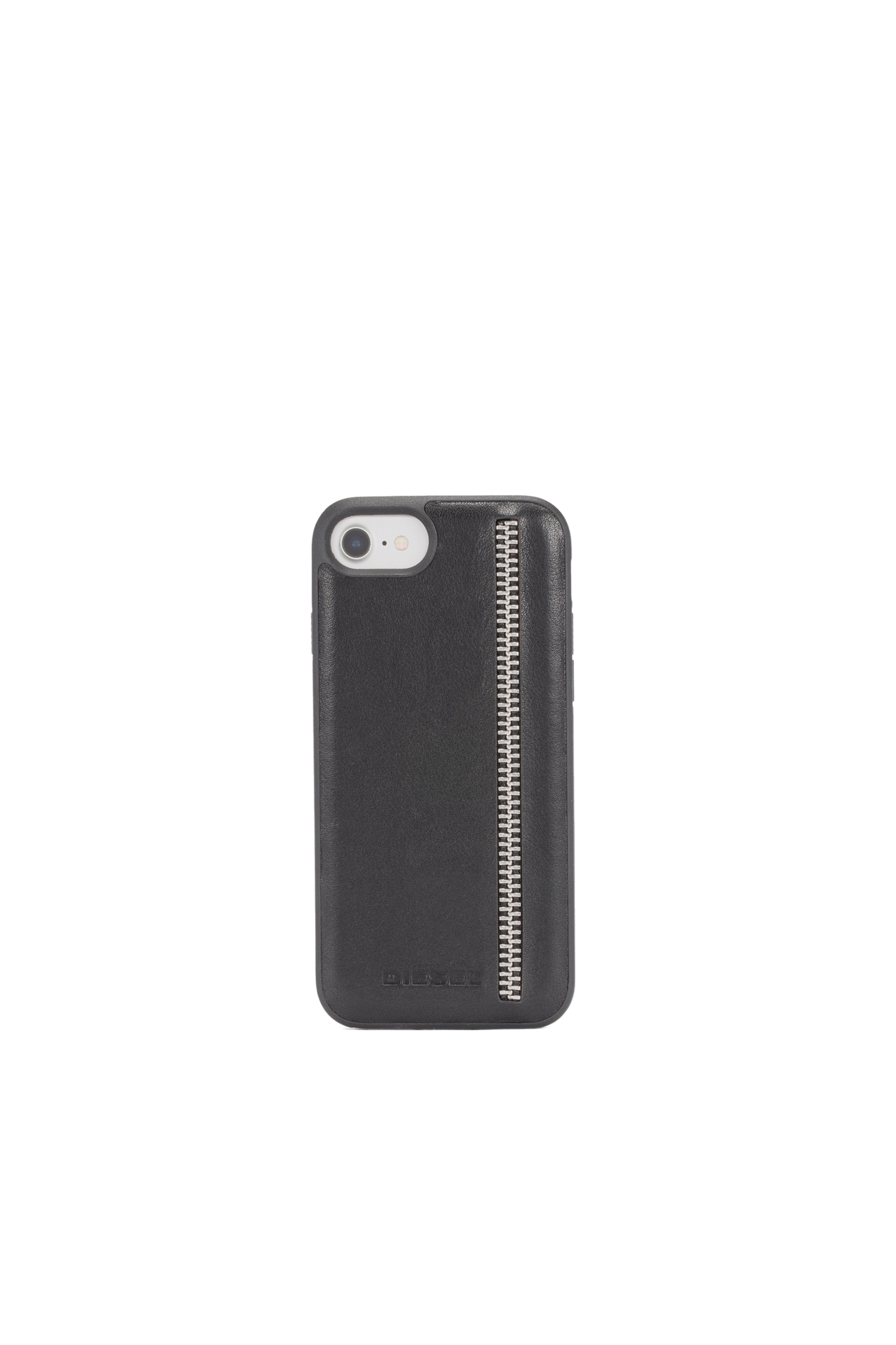 Diesel - ZIP BLACK LEATHER IPHONE 8/7/6s/6 CASE,  - Coques - Image 4